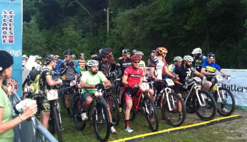 Riders at the start of the 2014 Pisgah Stage Race. The race moves from October to April for 2015.