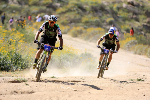 Cannondale duo Marco Fontana and Manuel Fumic chased the leaders most of the day - Photo RideBiker Alliance