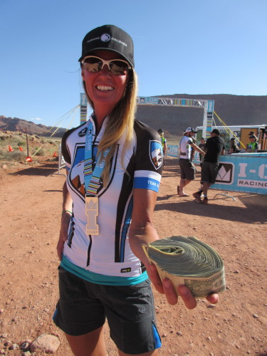The top pro men, women, and semi-pros took home stacks of cash - photo by Shannon Boffeli