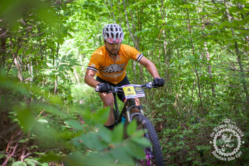Enduro overall winner Bryan Fawley (Kodiak Tough) makes his way through the woods at the NoTubes Trans-Sylvania Epic  Photos by: Trans-Sylvania Epic Media Team