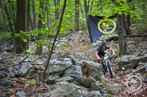 Aaron Albright (Trans-Sylvania Epic/NoTubes) descends the rocky Wildcat Trail in the NoTubes Trans-Sylvania Epic Mountain Bike Stage Race. Photo by: Trans-Sylvania Epic Media Team