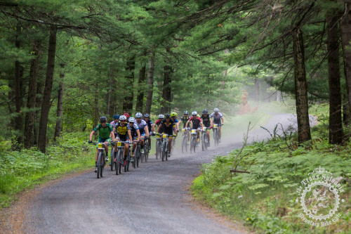 The lead breakaway early on in stage 4 at the NoTubes Trans-Sylvania Epic. Photo by: Trans-Sylvania Epic Media Team