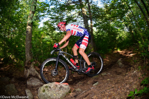 XC National Champion Todd Wells glides through the rocks at Boston Rebellion - Photo by Dave McElwaine