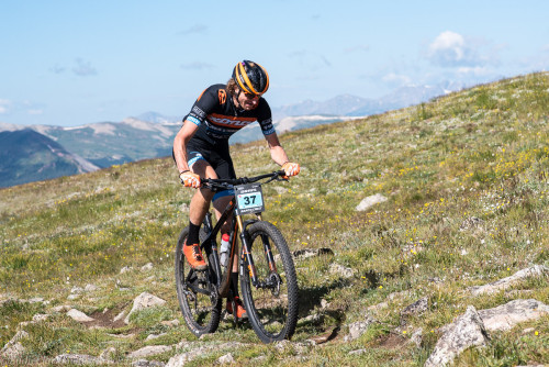 Seen here at the Breck Epic stage race, Barry Wicks knows how to train for multi-day events as he wins stage 5 of the 2015 race.  - Photo by Eddie Clark