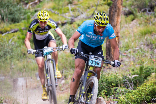 Alban Lakata and Jeremiah Bishop wind through a ribbon of the Colorado Trail. Photo by - Liam Doran