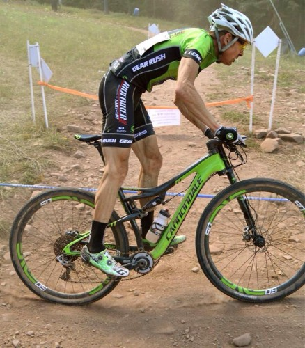 Alex digs deep at the Mount St. Anne world cup