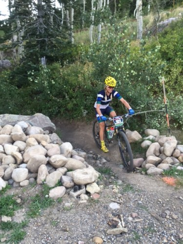 Kelly Boniface sits in 2nd exiting the Deer Valley climb. Photo by: Shannon Boffeli