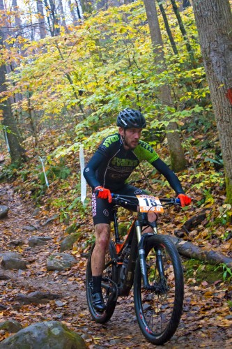 Matt Champion on his way to the win. Photo Courtesy of: Blue Ridge Adventures