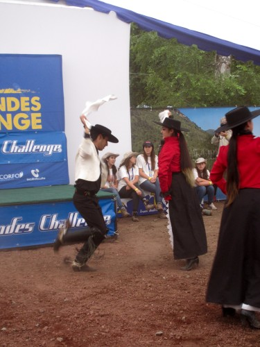 Traditional Chilean dance to kick off the race. Photo by: Shannon Boffeli