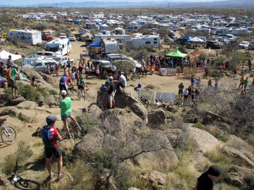 "Sometimes described as ""Burning Man for Bikers"" 24 Hours in the Old Pueblo brings riders from all across North America. Over 4,500 people were estimated to be in 24 Hour Town this weekend. Photo by: Shannon Boffeli"