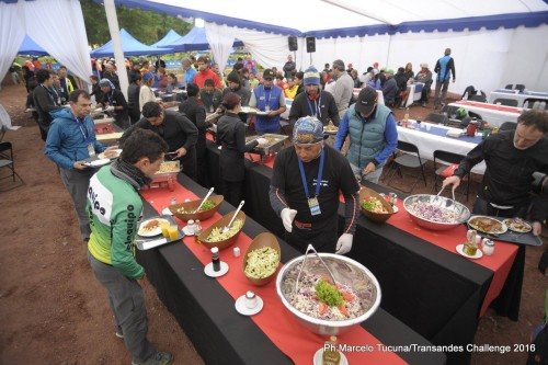 Food at the TAC was tasty and in large amounts. Photo by: Marcelo Tucuna/TransAndes Challenge 2016