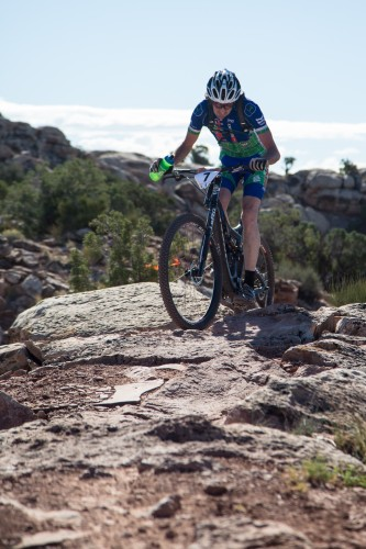 Conditions make a big difference in hydration needs. Desert riding like here at the 2014 Moab Rocks stage race requires more intake. Photo by Townsend Bessent/Moab Rocks