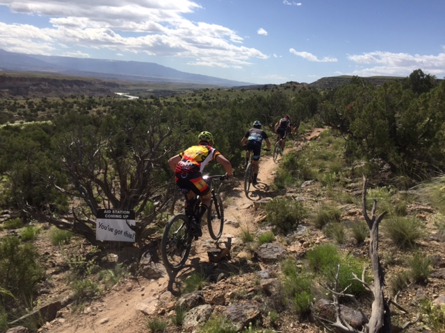 Most racers were too focused to take in the amazing scenery in Grand Junction. Photo by Shannon Boffeli