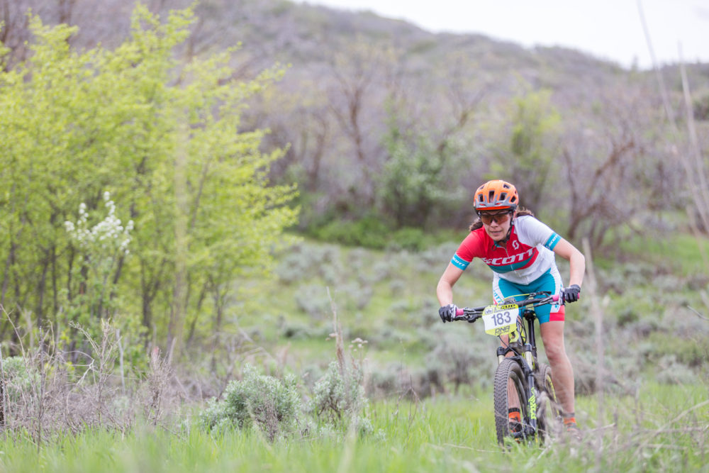Nicole Tittensor led most the day in Soldier Hollow. Photo by: Angie Harker/Selective Vision