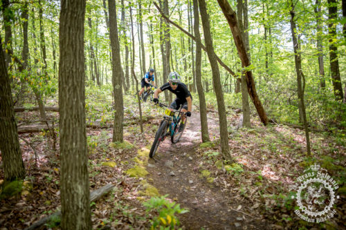 Men's race leader Justin Lindine (Apex / NBX / Trek) rails it on the first timed enduro section during stage 3 of the NoTubes Trans-Sylvania Epic. Lindine would go on to finish third on the day and retain his lead over Kerry Werner (Rally Cycling).