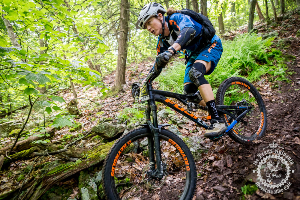 Meggie Bichard (Fuji Bikes) crushed the women's enduro all week long at the NoTubes Trans-Sylvania Epic, winning the enduro classification.