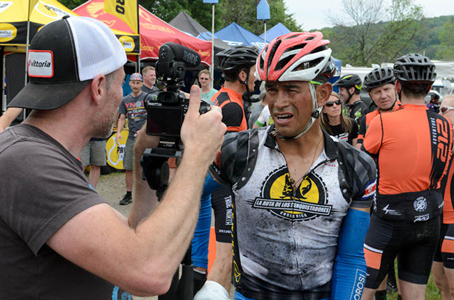 Ramarez just after the finish. Photo by: Butch Phillips Photography