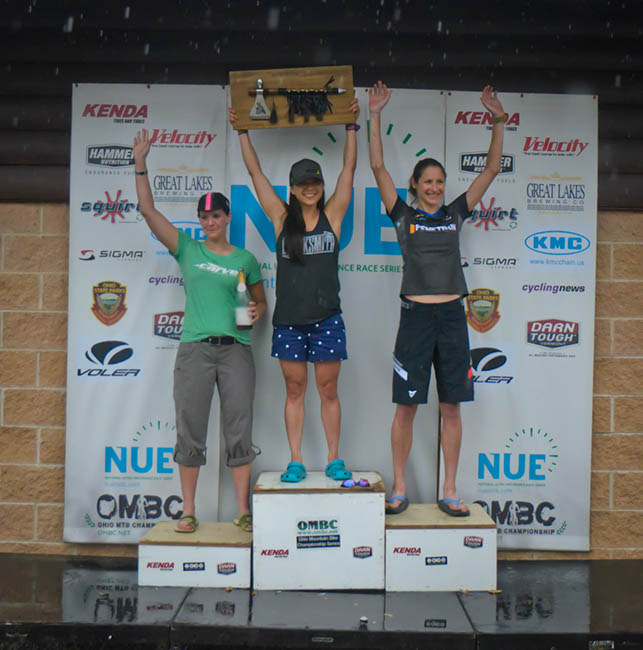 100-mile women's podium. Photo by: Butch Phillips Photography