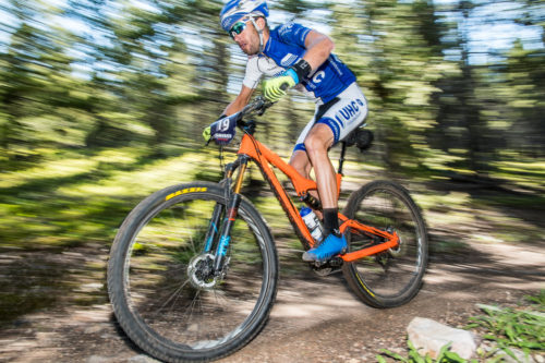 Chris Jones, of United Health Care Cycling, decided to swap out the skinnies for knobbies and is fitting in quite well at the Breck Epic. He finished 9th in 2:55 for the first stage of the week.