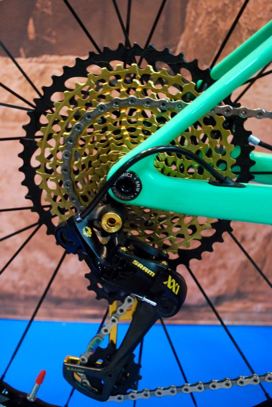 SRAM's 12 speed Eagle component group was a hot item in Las Vegas.