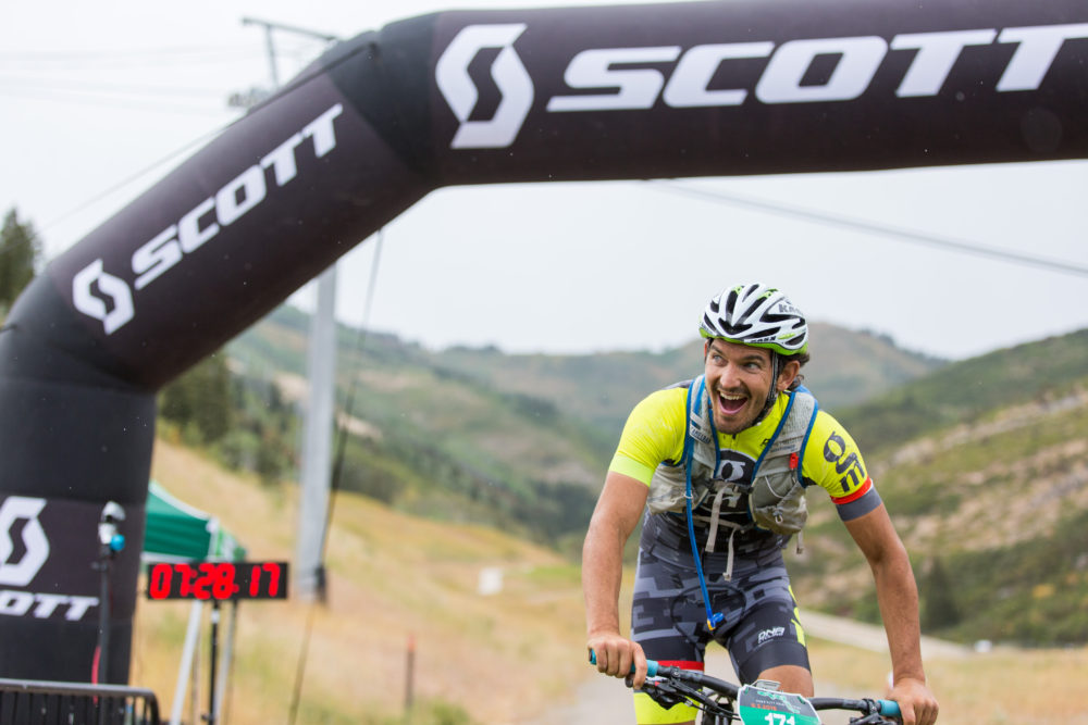 Jon Russell was all smiles all day but especially at the finish line. Photo by: Selective Vision
