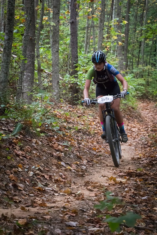 Carla Williams descends on Jake Mountain. Photo by: Dashing Images LLC