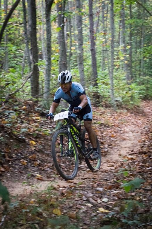 50-plus winner Jeff Clayton makes his way over Jake Mountain. Photo by: Dashing Images LLC