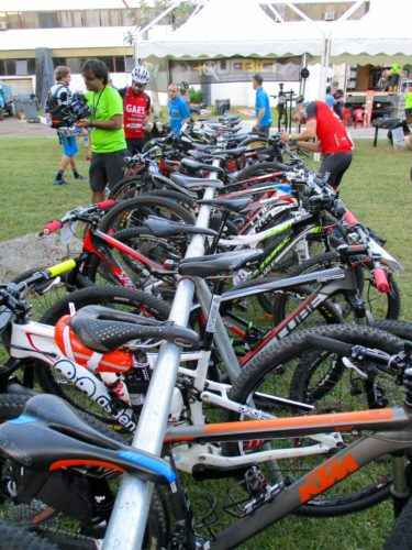 Bike racks are full prior to stage 1.
